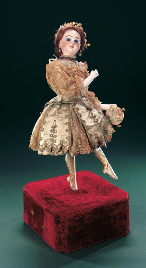"Very Beautiful French Musical Automaton ""Ballerina Pirouetting"" by Roullet & Decamps"