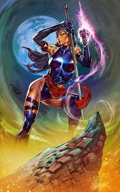 Marvel Psylocke Art 116 best X-Men - Psylo...