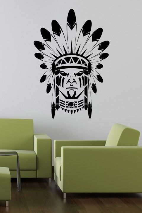 Indian Face Wall Sticker Indian And Tribal Motifs Have