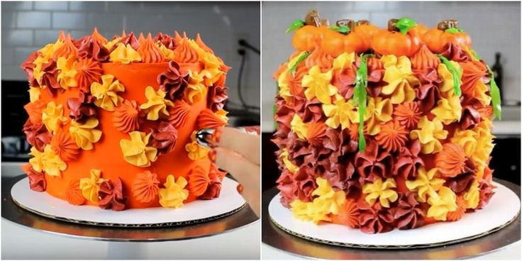 This Jaw-Dropping Fall Foilage Cake Is Mesmerizing The Internet