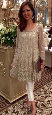 Pakistani outfit by Farida Hasan.