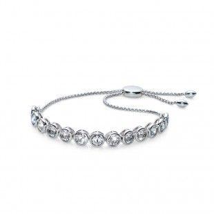 Oliver Weber Women soon style new rhodium bracelet with Swarovski Crystals