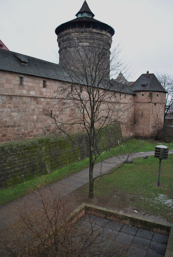 Amazing Former Wall moat of medieval Nurnberg Wall