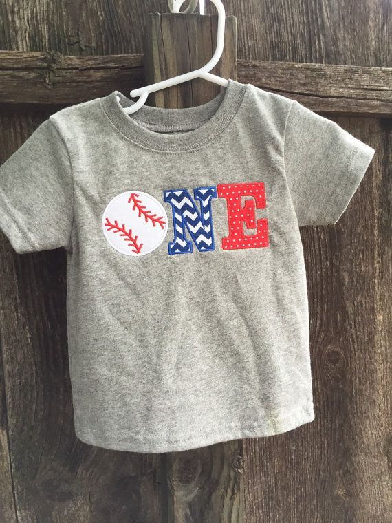 Baseball Theme First Birthday Shirt by SwankyPankyDesigns on Etsy