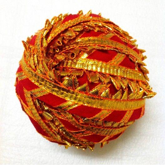 red and gold gota patti ribbon - gota border for dresses