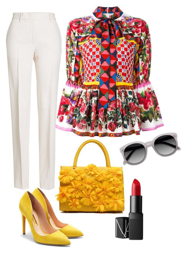 """""""La Croizette"""" by penkreitto on Polyvore featuring Dolce&Gabbana, Rupert Sanderson, Jil Sander, Ace and NARS Cosmetics"""