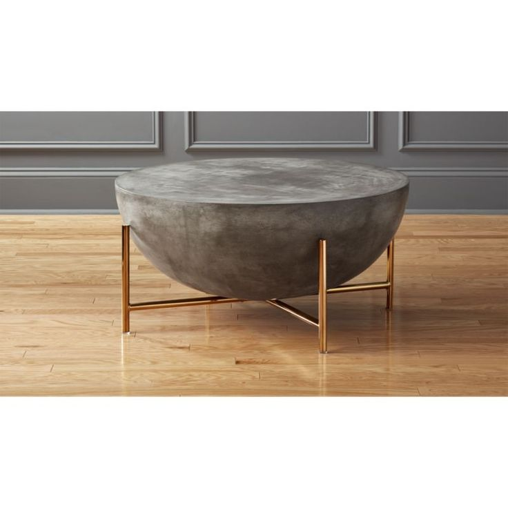 Charming Darbuka Brass Coffee Table