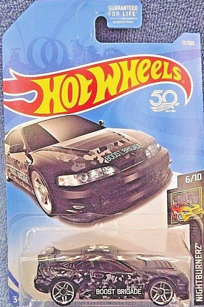 2018 Hot Wheels 17 Nightburnerz 610 Custom 01 Acura Integra Gsr