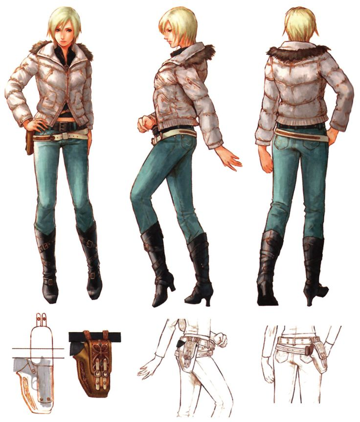 I like how this is outfit is both practical and alluring for a female character.
