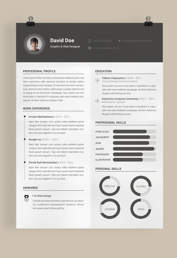 The 25+ best Professional cv template free ideas on Pinterest Cv - free professional resume templates