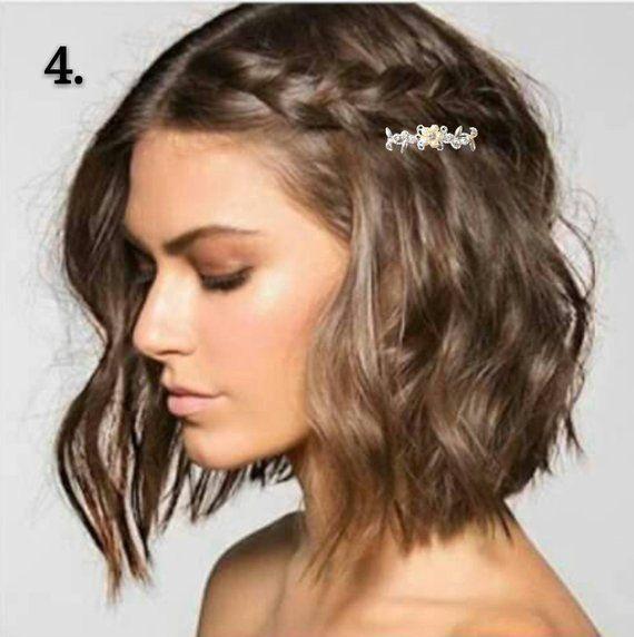 2 bridal hair clip with rhinestone single flower, bridal hairpins, swarovski rhinestone wedding hair accessories set under 5 dollars