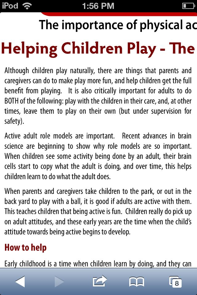 The role of adults in children's play
