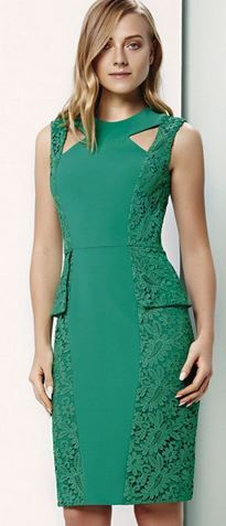 @roressclothes clothing ideas #women fashion green dress Fatima Scofield