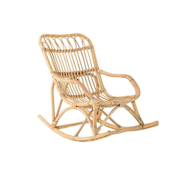 Nice Bloomingville rattan rocking chair with awesome round shapes. Perfect to combine with a large wooden table and Scandinavian items.