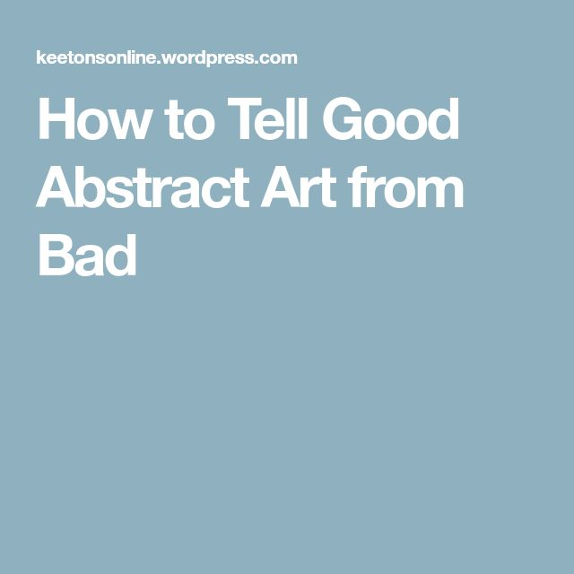 good abstract