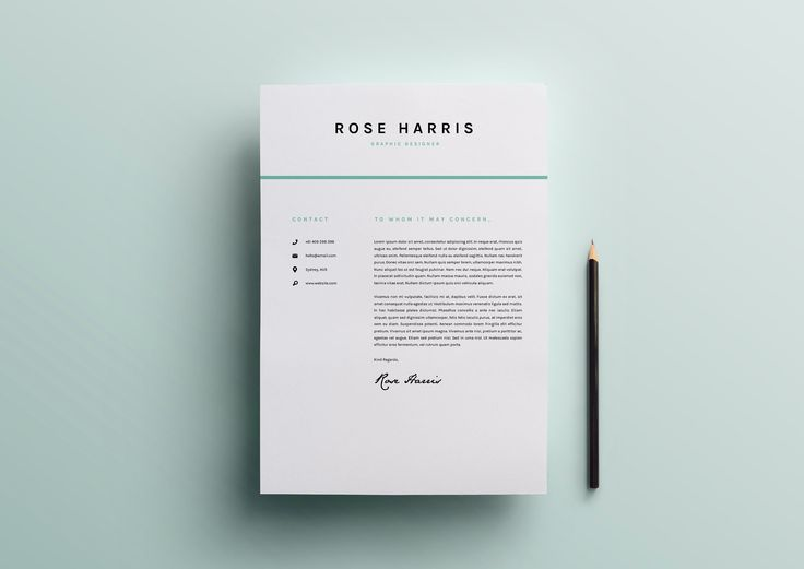 23 best Resume Template + Cover Letter Professional \ Modern - can a resume be 2 pages