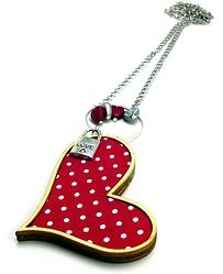 Heart - red or green  by Andrea Macsar http://www.h-art.com.au/#!necklaces/c1y06