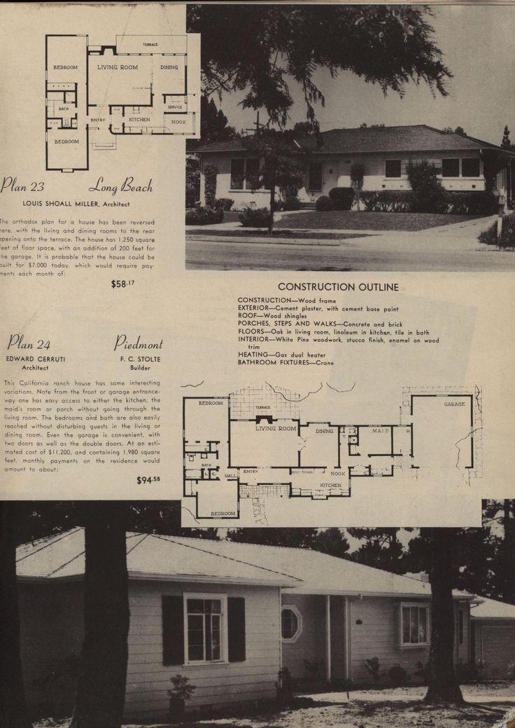california plan book 1946 - 1940s Beach House Plans