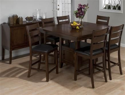 Jofran Taylor Cherry Server W 2 Drawers And Doors JFN 337 95 Counter Height Table SetsBar Dining