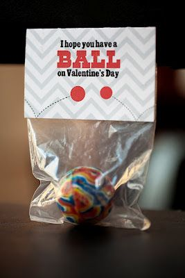 easy valentines for kids  - ok for adults, too, and am thinking of using malted milk balls (Whoppers)...