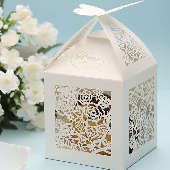 Wedding Favor Candy Box with 3D Carved by sweetywedding on Etsy, $0.99