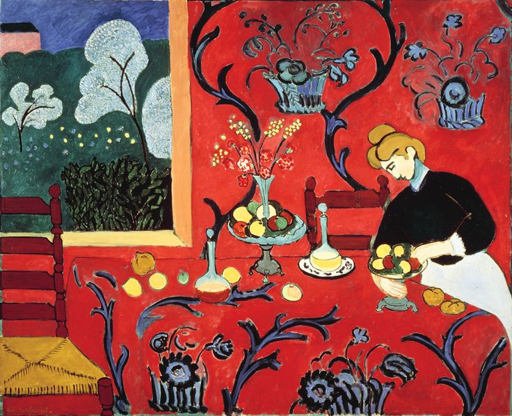 The Dessert: Harmony in Red (The Red Room) Matisse, 1908