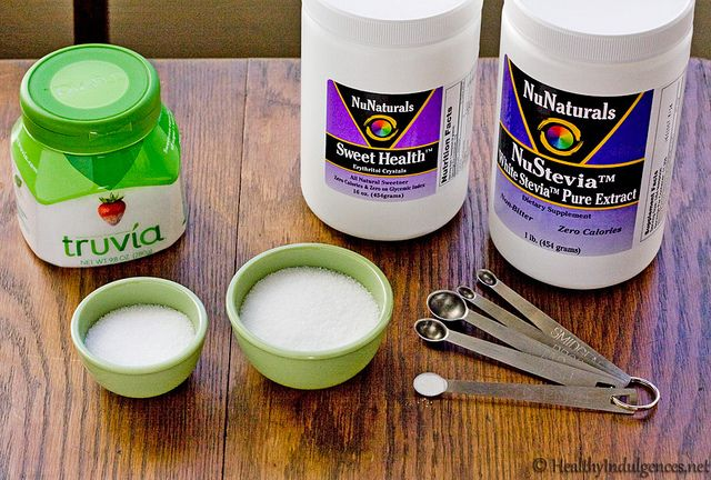 Healthy Indulgences blog: sugarfree, GF, and many THM friendly recipes that use tiny measuring spoons for stevia.