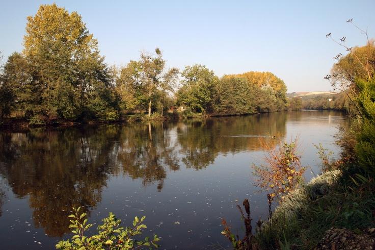 Le Canal du Nivernais à Vincelottes.