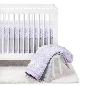 """Your little one will sleep peacefully on this majestic Pretty in Purple Crib Bedding Set from Cloud Island™. Gently lay baby down for naptime or for bedtime on these purple sheets and watch them nod off as their eyes flutter closed. They'll be the picture of perfection sleeping on the pastel purple, and you'll love the patterns you chose for the perfect baby nursery. <br><br>Sleep Safely, Little One<br>When putting baby to sleep, """"Bare is Best&..."""
