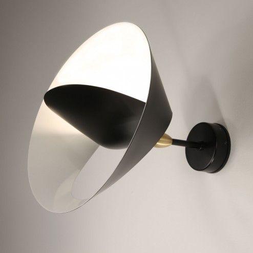 Serge Mouille Petite applique Saturne Wall Lamp