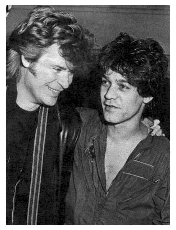 edward van halen | Daryl Hall and Eddie Van Halen, 1985
