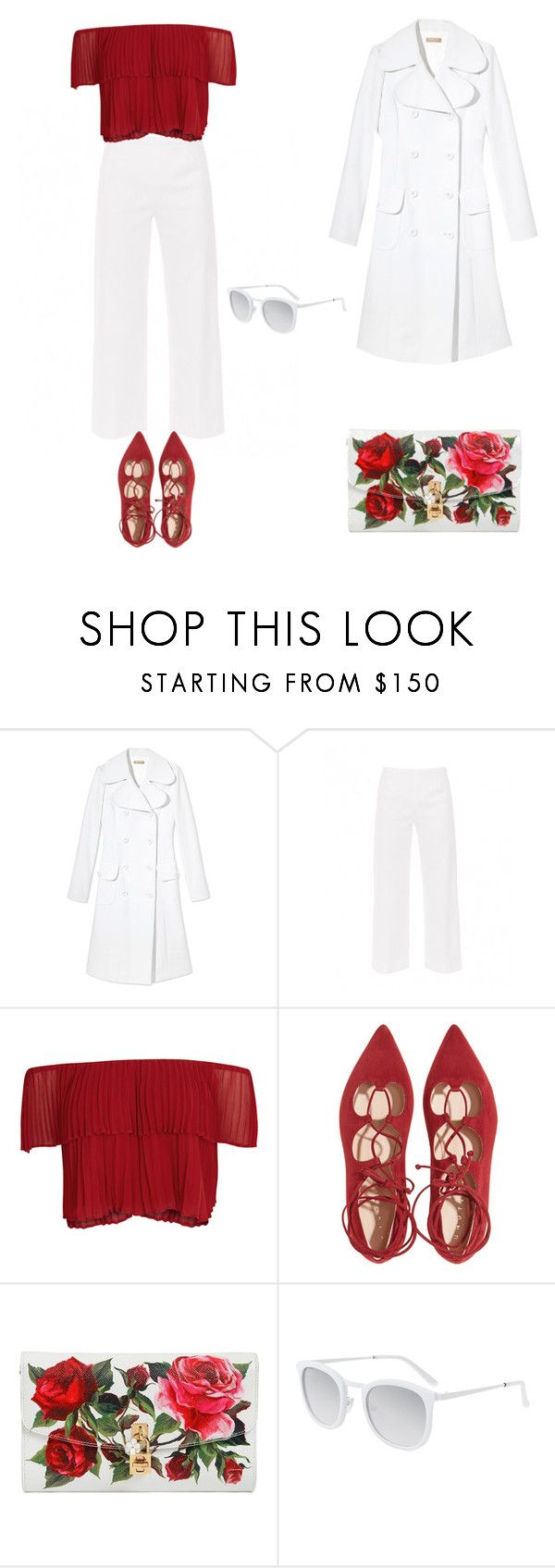 """you are so blod red&white"" by star-kwt ❤ liked on Polyvore featuring Michael Kors, Piazza Sempione, Keepsake the Label, Dolce&Gabbana and Smoke x Mirrors"