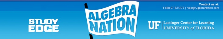 Algebra Nation is a highly effective, intensive, interactive online learning mechanism. This is a 24/7, free resource to prepare Florida's high school students for the Algebra End-of-Course exam. It will launch statewide Jan. 15, 2013.