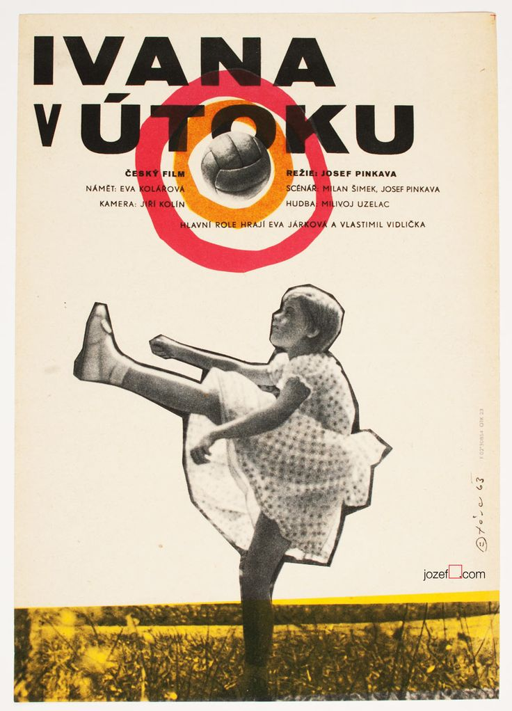 Excellent poster For Boys Only is for Girls Too, Poster design by Libor Fára, 1963. #MoviePoster #Poster #GraphicDesign