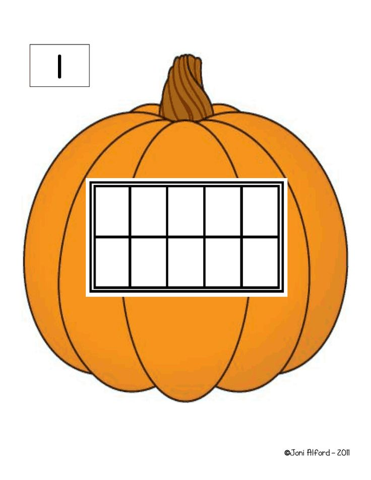 Pumpkin Counting Mats with Tens Frames 1: