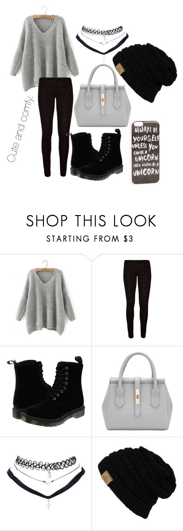 """""""Cute and comfy"""" by jenwolf2121 ❤ liked on Polyvore featuring Chicnova Fashion, Dr. Martens, Wet Seal and JFR"""