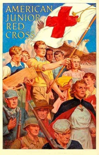 American Junior Red Cross Pôster de propaganda da Cruz Vermelha Jovem Americana (1928).