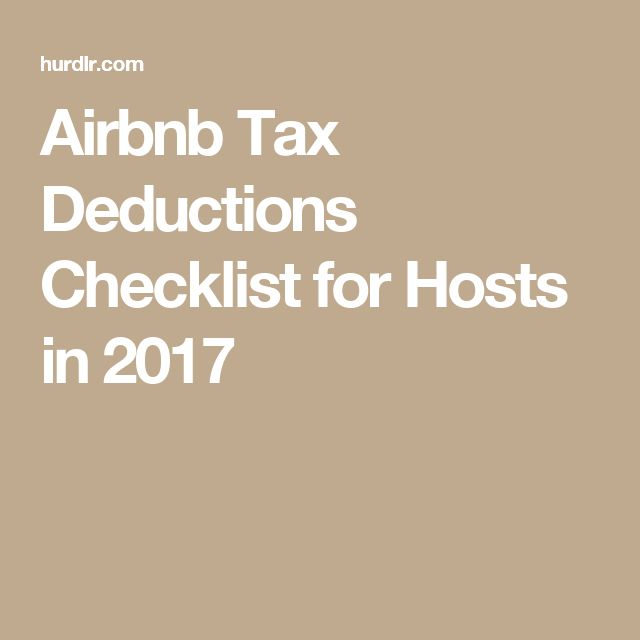 Airbnb Tax Deductions Checklist for Hosts in 2017