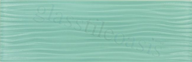 Euro Glass Crystile Wave Series 4 Quot X 12 Quot Soft Mint Sold