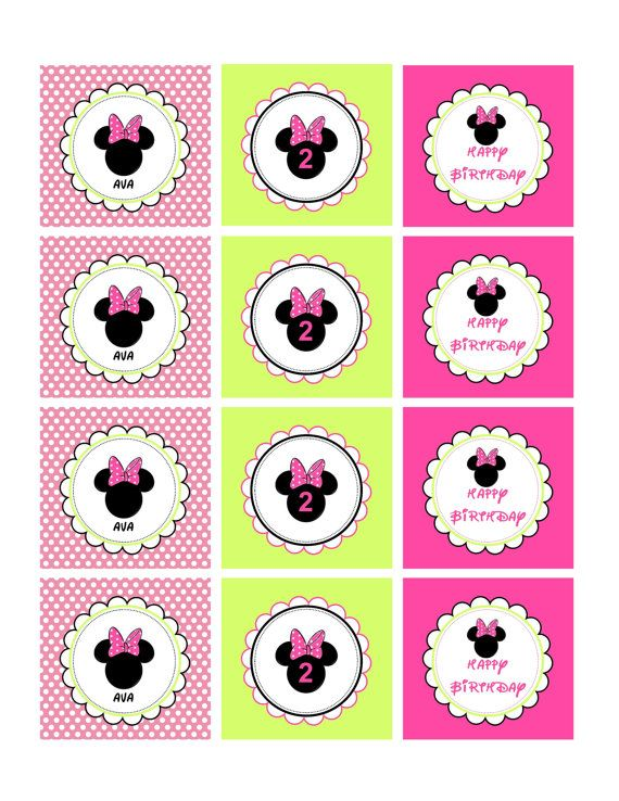 222 best minnie mouse bday images on pinterest beautiful minnie mouse bowtique 2 cupcake toppers or favor tags printable file via etsy pronofoot35fo Image collections