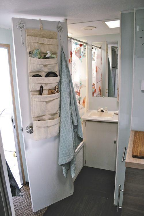 bathroom after travel trailer remodeling pinterest. Black Bedroom Furniture Sets. Home Design Ideas