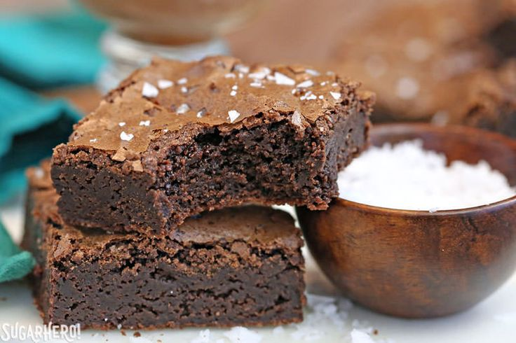 Salted Fudge Brownies are decadent, rich chocolate brownies with an insanely fudgy texture, and the perfect amount of sweet-and-salty flavor!