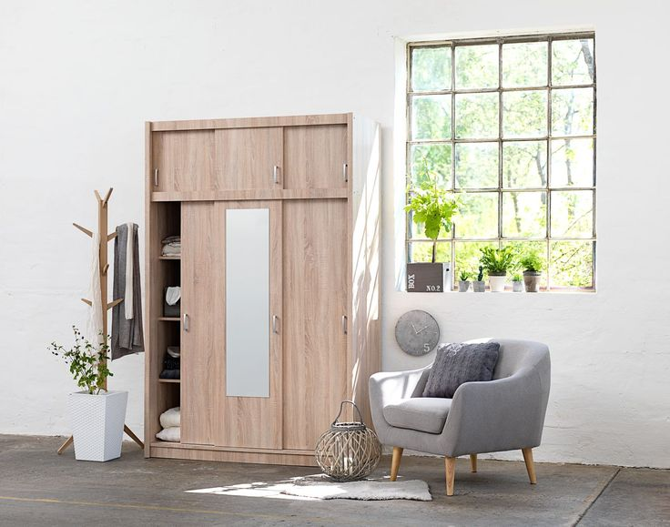 Choose light wood in your bedroom furniture styling for a fresh spring look. With a beautiful mirrored wardrobe you will the basic essentials to your bedroom styling ideas.