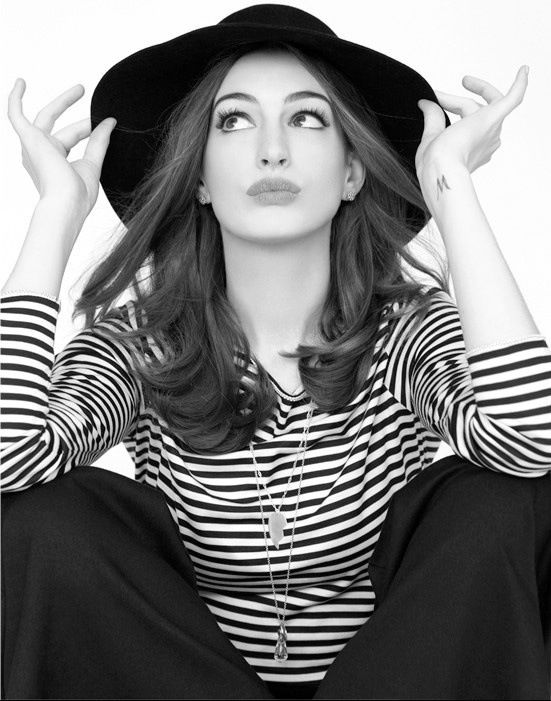 Anne Hathaway- absolutely lovely and talented, but still doesn't take herself too seriously...I love her!