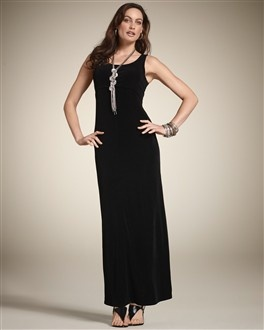 Madeline Maxi Dress...Black...Travelers Collection
