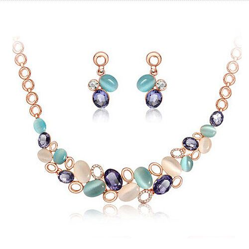 Find More Jewelry Sets Information about Good quality!! new design shiny rhinestone gem opal necklaces earrings sets Women wedding set jewelry 2014 free shipping M14,High Quality jewelry for a friend,China jewelry car Suppliers, Cheap jewelry vintage from Crystal shop(min,order $10) on Aliexpress.com