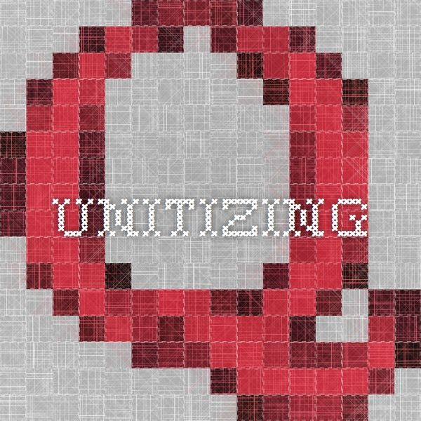 Unitizing: The module focuses on understanding units or groupings to help students develop a strategic use of units to deal with quantities and problem solving.
