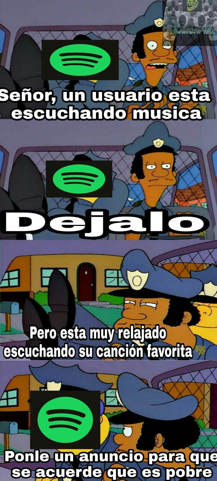 Spotify el ke mas rova :v