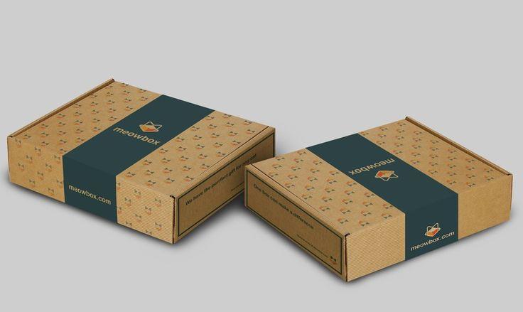 Shipping Carton for subscription box meowbox.com #2