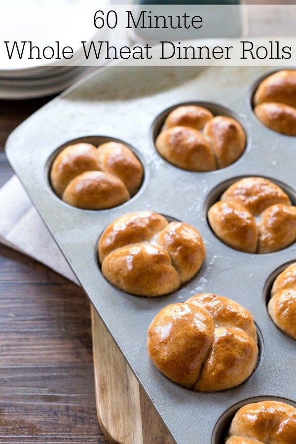 60 Minute Whole Wheat Dinner Rolls | Recipe | Dinner and Dinner rolls